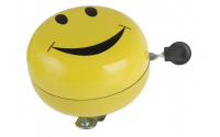 Fietsbel M-Wave Ding-Dong ø80mm - Smiley Geel